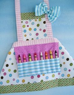 I love this for Ady!  I don't know if the crayons is a good idea for her yet, but so cute and such a fun idea!