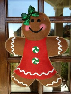 Gingerbread girl----Idea for the patio door in the kitchen