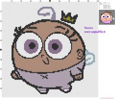 Poof (The Fairly OddParents) cross stitch pattern