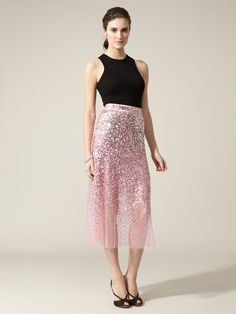 more Reem Acra pink. (don't like the styling, but the skirt is divine!)