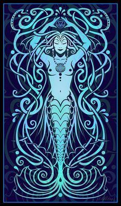 "Elements Water:  ""Water Spirit,"" by Cristina McAllister."