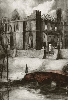 One of Santiago Caruso's illustrations for the Folio Society's 2016 commemorative edition of Jane Eyre.
