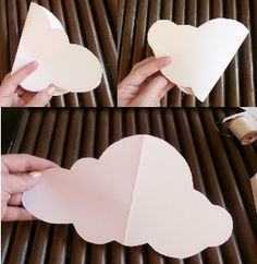 DIY Paper Cloud Mobile Tutorial Hanging clouds for classroom Mothers Day Crafts For Kids, Summer Crafts For Kids, Diy Paper, Paper Crafts, Paper Clouds, 3d Clouds, Hanging Clouds, Cloud Decoration, Origami