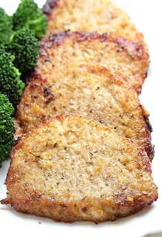Baked Garlic Parmesan Pork Chops. Not 100% sure this is the original source but this link still has the recipe.