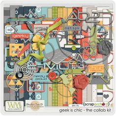 Geek Is Chic - The Kit $8 | WM[squared] no bundle; add-ons elements + alpha + word art = $11.75