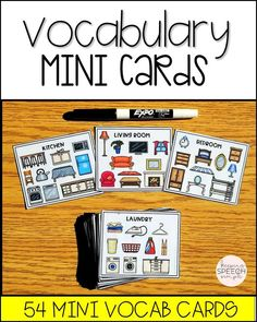 Are you looking for new ways to introduce vocabulary to your early elementary and preschool students? If so, these mini cards are for you. These cards target 540 different vocabulary words for 54 categories and themes. Cards are compact for easy storage. Perfect for the traveling SLP. Also appropriate for preschool and special education classrooms. Click here to see more of this resource!