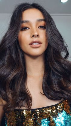Haare und Make-up // Liza Soberano Hair Color Asian, Most Beautiful Faces, Natural Makeup Looks, New Hair Colors, Dark Hair, Hair Looks, Asian Beauty, Just In Case, Hair Inspiration
