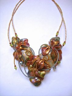 Necklaces | tresjoliedesignsbysue.com | Unique, hand-crafted, polymer clay jewelry and accessories by Sue Evenson