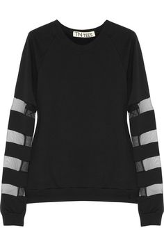 TNTees Dodo mesh-paneled cotton-fleece sweatshirt