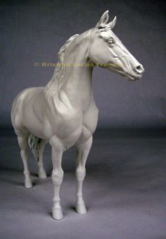 """Portrait of Go Boy's Shadow 1955 and 1956 World Champion Tennessee Walking horse in unpainted resin. Sculpted by Kristina Lucas Francis. 9.5"""" long, 8,75 tall. I'm hoping I can afford the ceramic version."""