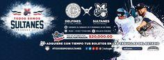 ⚾️ Delfines de Cd del Carmen vs Sultanes de Monterrey  22 de Abril  7:00 PM  Estadio de Béisbol Monterrey