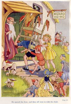 Adventures of the Wishing-Chair by Enid Blyton-illustration by Hilda McGavin