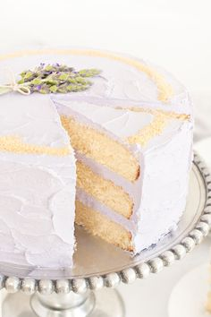 Honey Lavender Cake with Nektar Honey Crytstals | Sprinkles for Breakfast