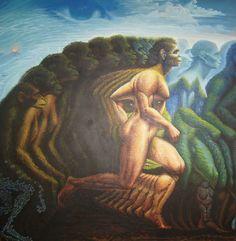 Octavio Ocampo Human Evolution mural