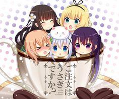 top to bottom Sophia, Alice, Regina, Eli and Kate Kawaii Anime Girl, Loli Kawaii, Kawaii Chibi, Anime Girl Cute, Cute Chibi, I Love Anime, Anime Art Girl, Manga Girl, Anime Chibi
