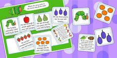 The Very Hungry Caterpillar Story Sequencing (4 per A4) - The