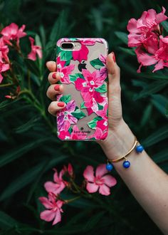 kate spade bougainvillea phone case
