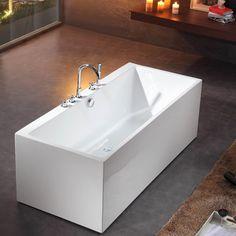 Badkar Bathlife Ideal Form Fristående Vit - Standardbadkar