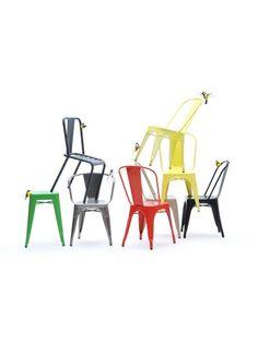 Tolix - Xavier Pauchard - Czerwone Krzesło A | 999,00zł