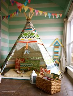the handmade home no sew teepee 2