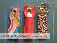 handmade by stacy vaughn: chapstick holder keychain
