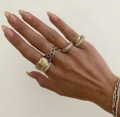 Nail Jewelry, Cute Jewelry, Jewelry Accessories, Trendy Jewelry, Stylish Nails, Trendy Nails, Nail Ring, Minimalist Nails, Dream Nails