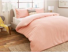 BRAID - Queen duvet cover and pillow case set - Pink