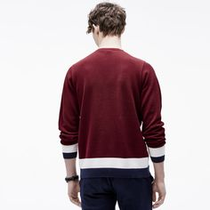 c00ed834a7cf Pull col rond Edition Made in France En coton Lacoste