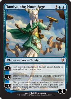 Amazon.com : Magic: the Gathering - Tamiyo, the Moon Sage (79) - Avacyn Restored : Collectible Single Trading Cards : Toys & Games
