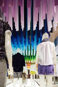 Colorful Wind installation by Emmanuelle Moureaux for UNIQLO | urdesign magazine