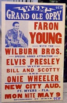 September 4, 1954: Elvis is booked on the Grand Ole Opry. He travels to Nashville with Sam, Marion, Scotty and Bill. They sing on the Hank Snow segment.
