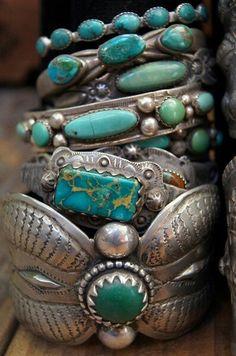 Turquoise boho bracelets