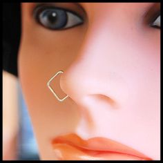 Square Nose Hoop / Square Nose Ring in Sterling Silver - CUSTOMIZE