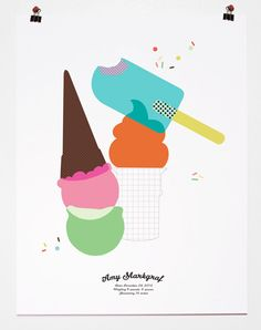 ice cream birth announcement