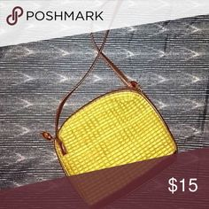 Woven Crossbody Bag Brand new condition. Used once. Woven purse with leather strap. Bags Crossbody Bags