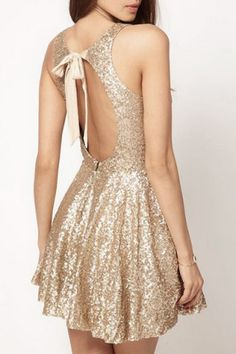 Sexy Open Back Sequined Sleeveless Mini Dress For Women Casual Dresses | RoseGal.com Mobile