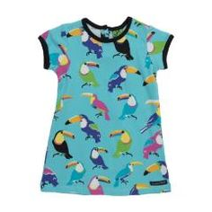 Toucan Dress - Light Sky Blue