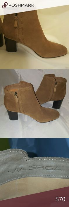 VIA SPIGA **** Nude Booties EUC Only worn a couple times indoors. Nude or beige SUEDE . Via Spiga Shoes Ankle Boots & Booties