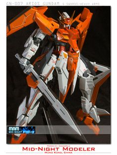 1/100 Arios Gundam with customized GN Swords Custom Build - Gundam Kits Collection News and Reviews