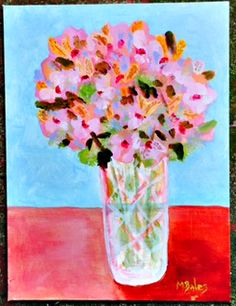 Alstroemerias in Crystal Vase Acrylic on canvas board. 11 x 14 + shipping Crystal Vase, Canvas Board, Glass Vase, Paintings, Crystals, Home Decor, Decoration Home, Paint, Room Decor
