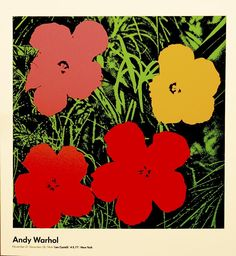 ANDY WARHOL FLOWERS POSTER 1964 offset lithograph Paper size: 27.1/2 x 24.1/2 inch (69.8 x 62.2 cm) Images Size: 27.1/2 x 24.1/2 inch (69.8 x 62.2 cm) very good condition