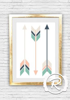Graphic Art Wall Print , Triple Arrows, Hipster Native American Art, Pastel Arrows, Nursey Decor, Graphic Art Printable, INSTANT DOWNLOAD on Etsy, $5.95 AUD