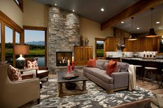 Wilderness Club - traditional - living room - other metro - Hunter and Company Interior Design