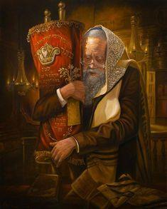 Praying w Torah, Alex Levin, Judaic Fine Art Cultura Judaica, Arte Judaica, Jewish History, Jewish Art, Temple In Jerusalem, Art Themes, Bible Art, Bible Book, Christianity