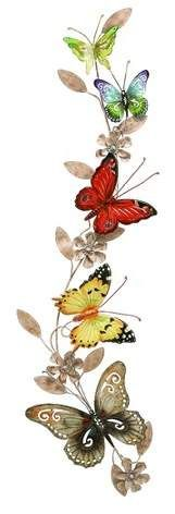 Olivia & May Metal Butterfly Decorative Wall Art 39 X 10
