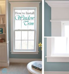 Wow, what a difference some molding makes to these windows. This tutorial makes it seem almost easy to do.