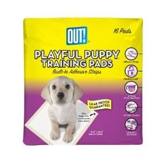 OUT! Playful Puppy Training Pads for Puppies, Built in Adhesive Strips,16 Count (Kitchen)  http://pieflavors.com/amazonimage.php?p=B0006ABMK6  B0006ABMK6
