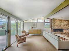 Mid Century Modern Denver living room