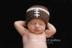 Jennifer McCandless Photography: Newborn photography football hat
