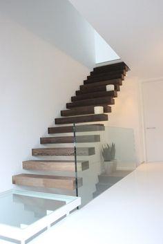 Bekleden betonnen trappen - Interieur schrijnwerk Van Aerde